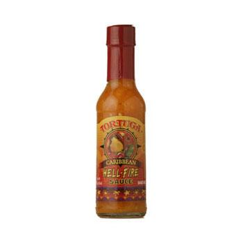 Tortuga Caribbean Hell Fire Hot Pepper Sauce 6 5oz Bottles