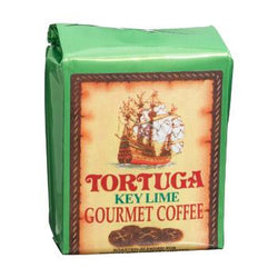 Tortuga Caribbean Key Lime Flavored Gourmet Ground Coffee 8oz Bag