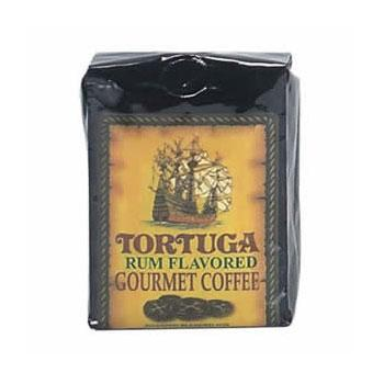 Tortuga Caribbean Rum Flavored Gourmet Ground Coffee 12 8oz Bags
