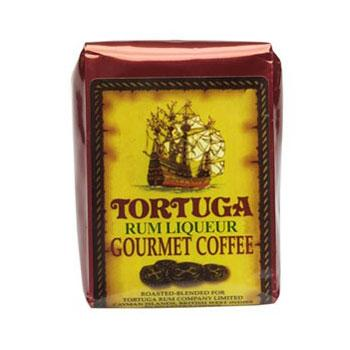 Tortuga Caribbean Rum Liqueur Gourmet Ground Coffee 8oz Bag