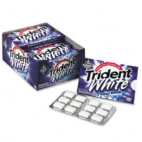 Trident White Cool Rush Sugarless White Gum 12 Packs