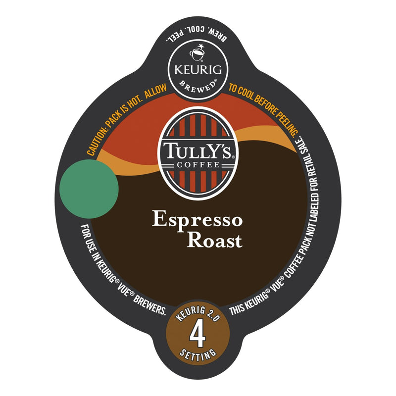 Tully's Coffee Espresso Roast Vue Packs 16ct
