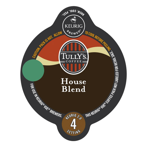 Tully's Coffee House Blend Vue Packs 16ct