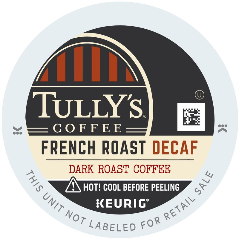 Tully's Decaffeinated French Roast K-Cups 96ct Dark