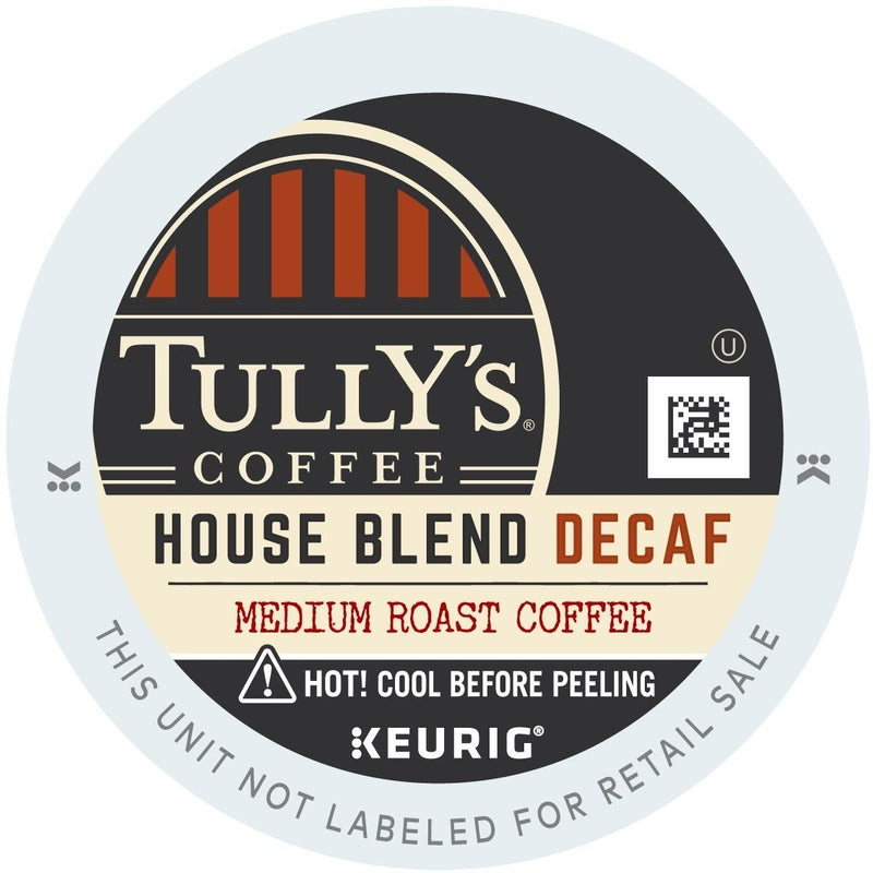 Tully's House Blend Decaf K-Cups 96ct Medium