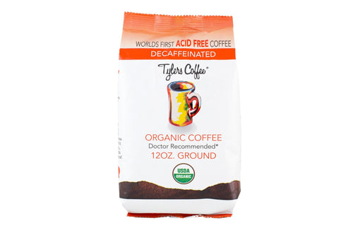 Tylers Decaf Acid Free Coffee 4 12oz bag Case