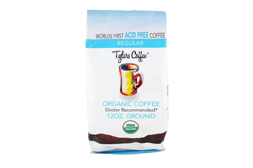 Tylers Organic Regular Acid Free Coffee 4 12oz bag Case