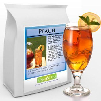 Uniq Tea Peach Iced Tea Pouches 24ct Box
