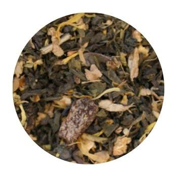 Uniq Teas Citrus Green Loose Leaf Tea Grinds