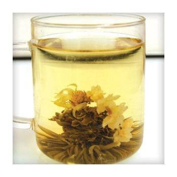 Uniq Teas Green Seashell with Chrysanthemum Loose Leaf Tea Grinds