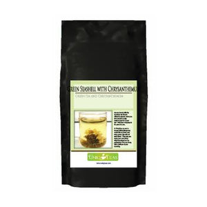 Uniq Teas Green Seashell with Chrysanthemum Loose Leaf Tea