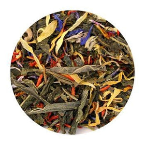 Uniq Teas Mango Passion Fruit Green Loose Leaf Tea Grinds