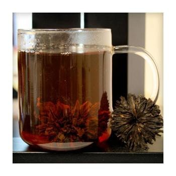 Uniq Teas Red Peony Rosettes Loose Leaf Tea Grinds