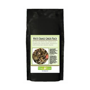 Uniq Teas White Orange Ginger Peach Loose Leaf Tea