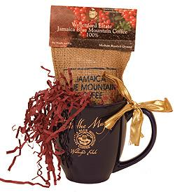 Jamaica Blue Mountain Coffee Mug and Ground Coffee