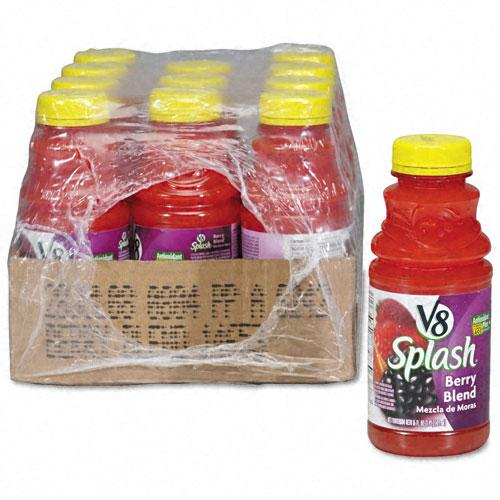 V8 Splash Berry Blend Juice 16oz Bottles 12ct Case