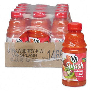 V8 Splash Kiwi Strawberry Juice 16oz Bottles 12ct Case