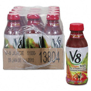 V8 Vegetable Juice 12oz Bottles 12ct Case