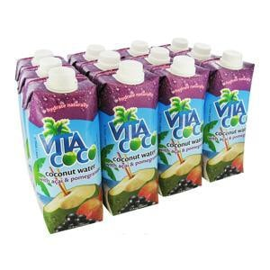 Vita Coco Acai Pomegranate Coconut Water 17oz 12-Pack Case