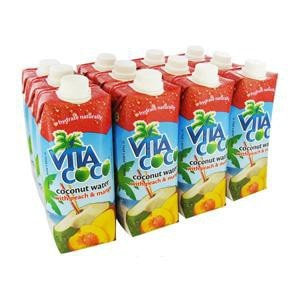 Vita Coco Peach Mango Coconut Water 17oz 12-Pack Case