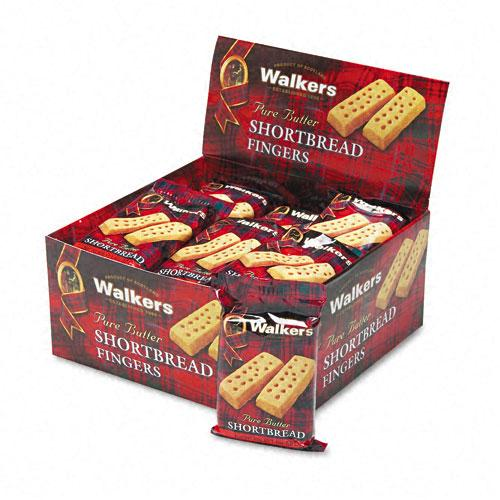 Walker's Shortbread Fingers Butter Cookies 2 Cookies per Pack, 24ct Box