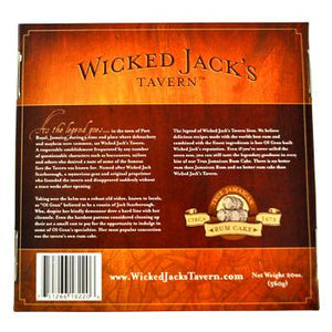 Wicked Jacks Tavern Butter 20oz Rum Cake Box Back