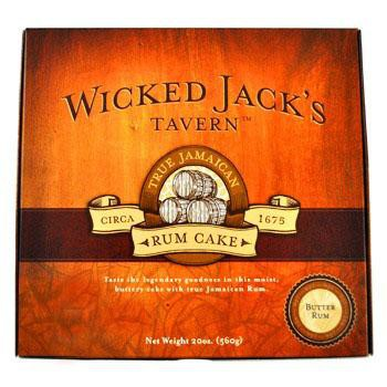 Wicked Jacks Tavern Butter 4oz Rum Cake Box