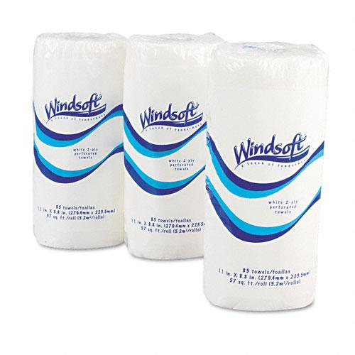 Windsoft Perforated 2 Ply Paper Towel Rolls 100 Sheets 30ct Case