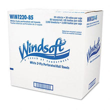 Windsoft Perforated 2 Ply Paper Towel Rolls 84 Sheets 30ct Case