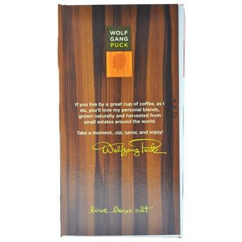 Wolfgang Puck Coffee Hawaiian Hazelnut Decaf Pods 18ct Side