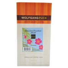 Wolfgang Puck Coffee Hawaiian Hazelnut Decaf Pods 18ct Box