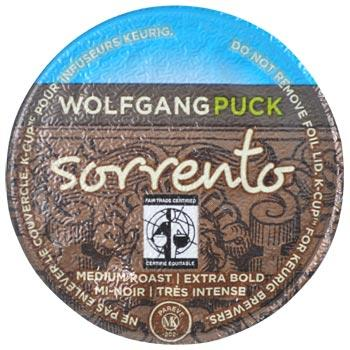 Wolfgang Puck Sorrento Coffee K-Cups 96ct