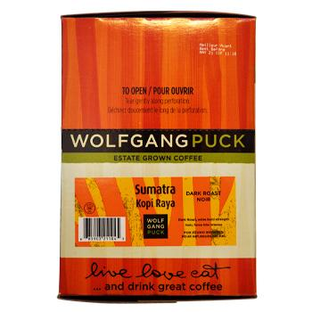 Wolfgang Puck Sumatra Kopi Raya Coffee K-Cups 96ct Box