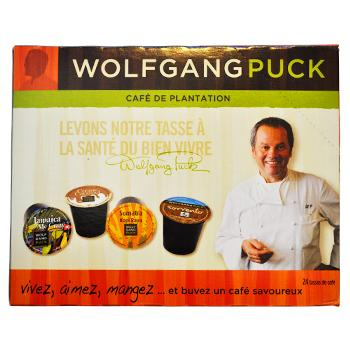 Wolfgang Puck Vanilla Francaise Coffee K-Cups 24ct  Box Side Left