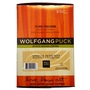 Wolfgang Puck Vanilla Francaise Coffee K-Cups 24ct  Box