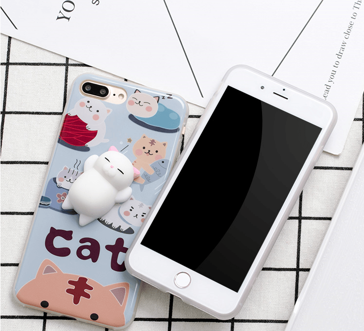 Coque Iphone Chat 3D Anti-Stress - VentesFlashFrance