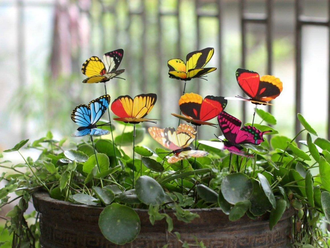 Lot de 10 Papillons Décoration de jardin - VentesFlashFrance