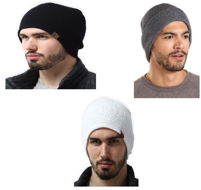 LOT de 3 Bonnet Homme Magique et Confortable - VentesFlashFrance