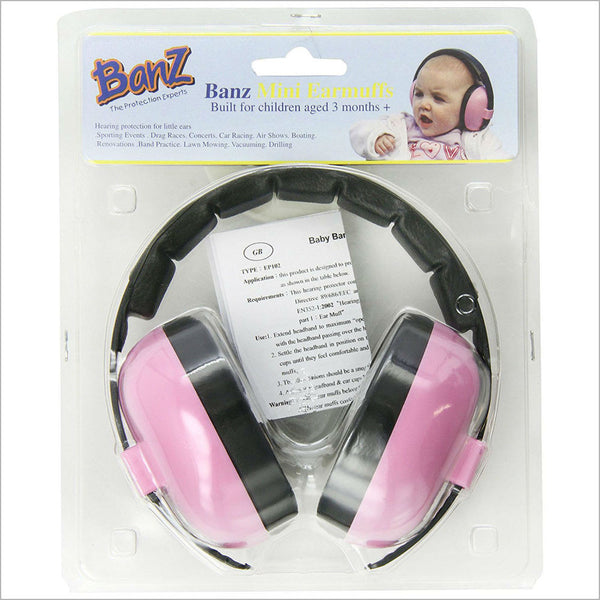 Banz Mini Ear Defenders Pink