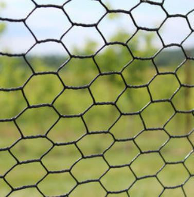 8' x 100' Steel Hex Web Blk PVC Coated Fence