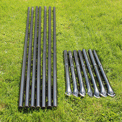 6' H Dog Fence Heavy Line Posts-7 Pack