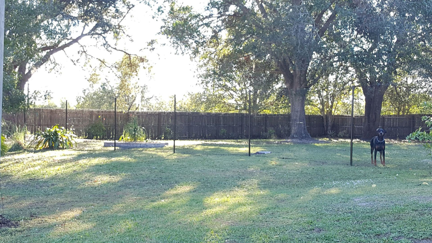 4 X 300 Steel Hex Dog Fence Kit Easypetfence