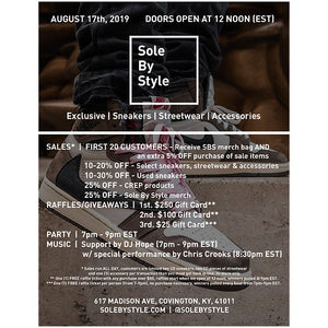 Sole By Style One Year Sale and Celebration Details