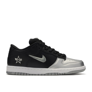 Supreme/Nike SB Dunk Low Jewel Swoosh Silver