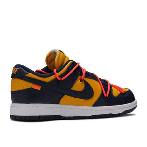 Off-White/Nike Dunk Low University Gold Midnight Navy