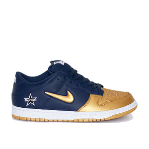 Supreme/Nike SB Dunk Low Jewel Swoosh Gold