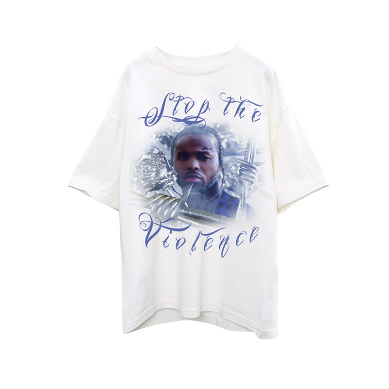 Pop Smoke X Virgil Abloh Stop The Violence Tee White