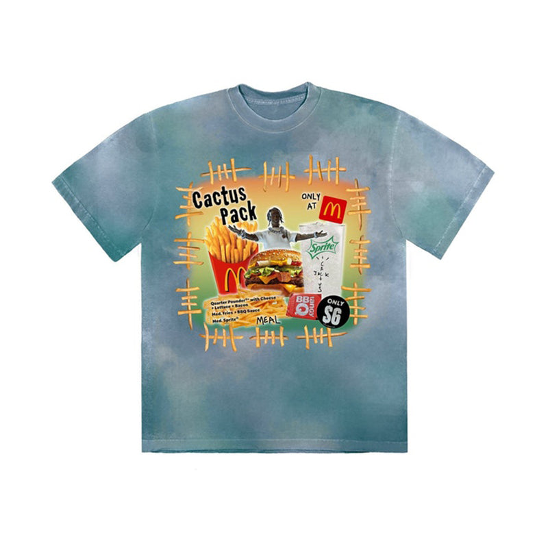 Travis Scott x McDonald's Cactus Pack Vintage Bootleg T-Shirt Multi