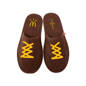 Travis Scott x McDonald's Cactus Jack House Slippers Brown