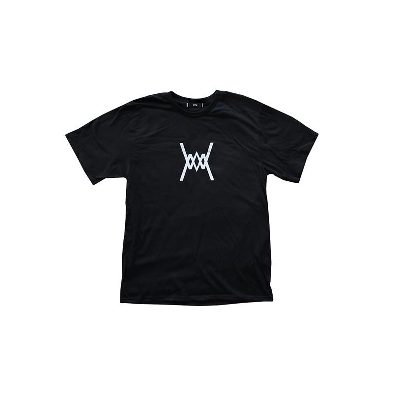 Run The Midwest Logo Tee Black